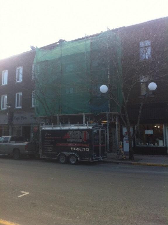 Rejointoiement immeuble commerciale - Vieux-Montréal
