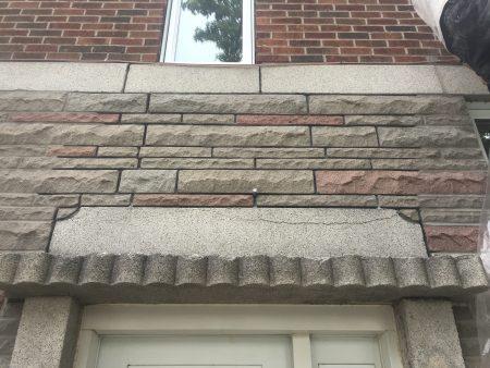 Remplacement d'un linteau dans la région de Montréal